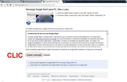 Descarga el programa Google Earth o actualiza tu versión