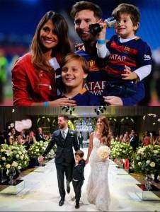 Antonella Roccuzzo & Lionel Messi famille